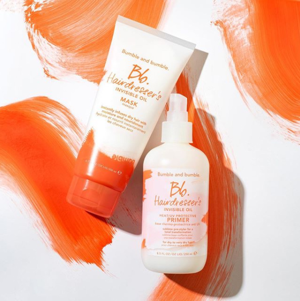 Bb products on a white and orange painted background
